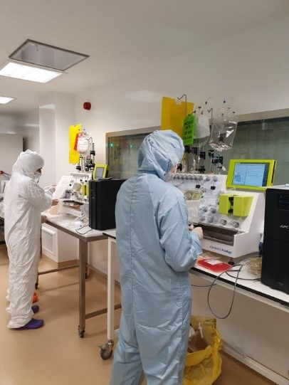 within the Centre for Cell, Gene & Tissue Therapeutics (CCGTT) clean rooms